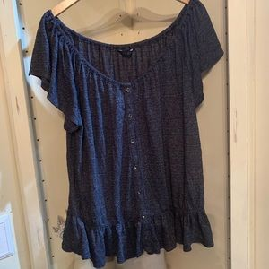 Lucky brand Top, gray with a hint of white, XL